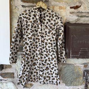A.P.C Leopard Long Sleeve Shirt/Dress